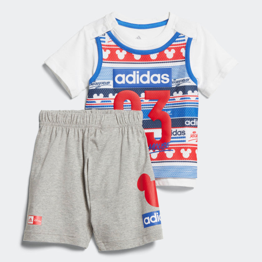 JGO SHORT NIÑO WHT/BLU/RED