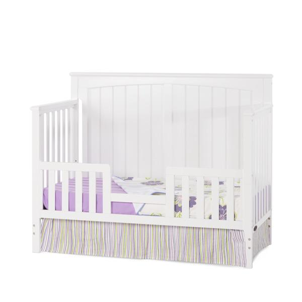 CHILDCRAFT CUNA SHELDON 4 IN 1 CONVERTIBLE CRIB-MATTE WHITE
