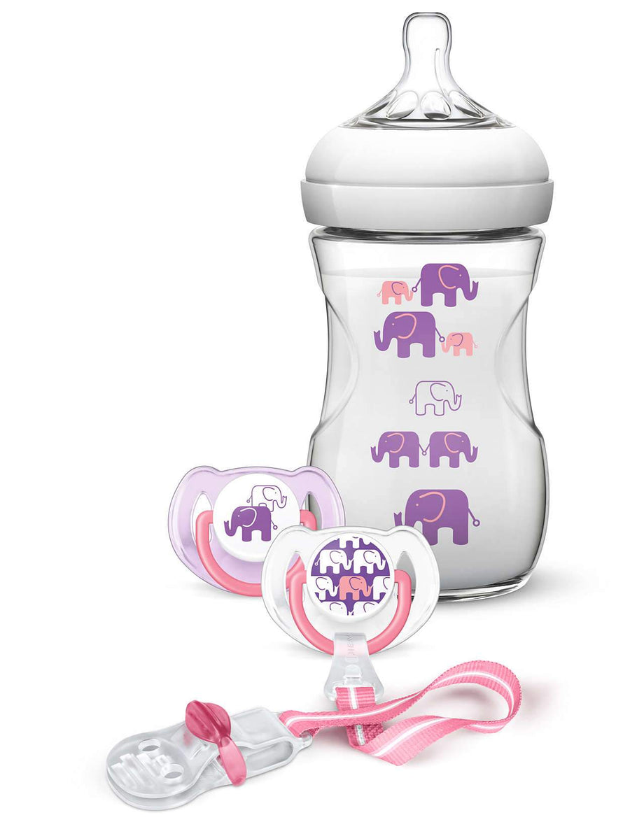 AVENT SET DE REGALO NATURAL DISEÑO ELEFANT NIÑA