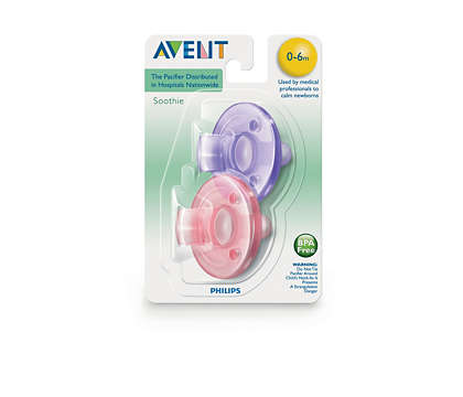 AVENT CHUPETE SOOTHIE PACIFIER PINK/PURPLE 3M