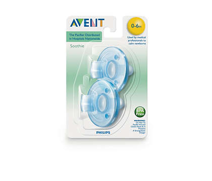 AVENT CHUPETE SOOTHIE PACIFIER BLUE 3M