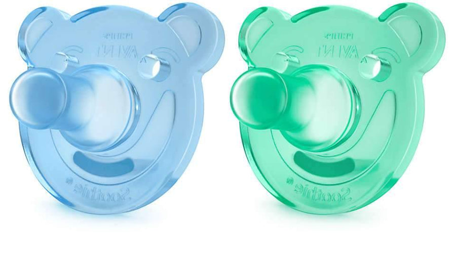 AVENT CHUPETE SOOTHIE BEARS 0-3M, VERDE/AZUL, 2PC