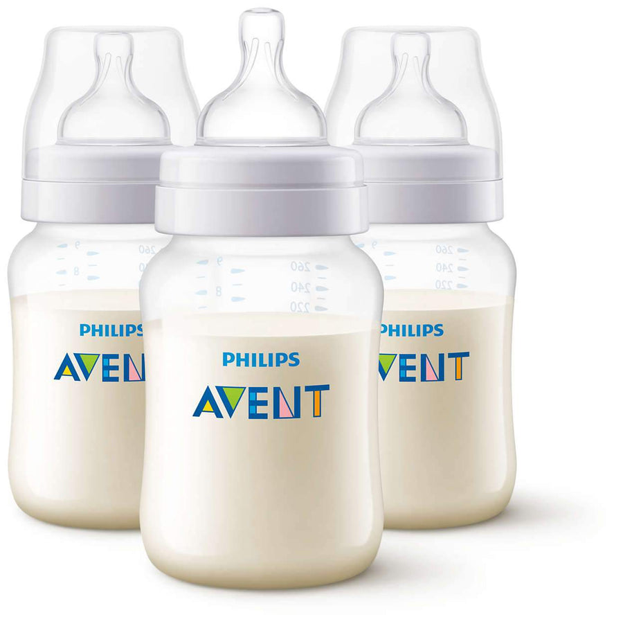 AVENT SET DE BIBERON 3PCS CLASICO PLUS 260 ML