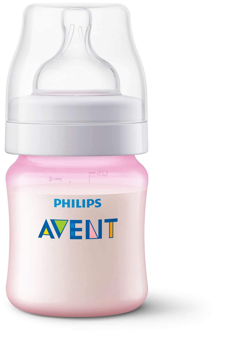AVENT BIBERON ANTI COLICO PP 125ML / 4OZ ROSA