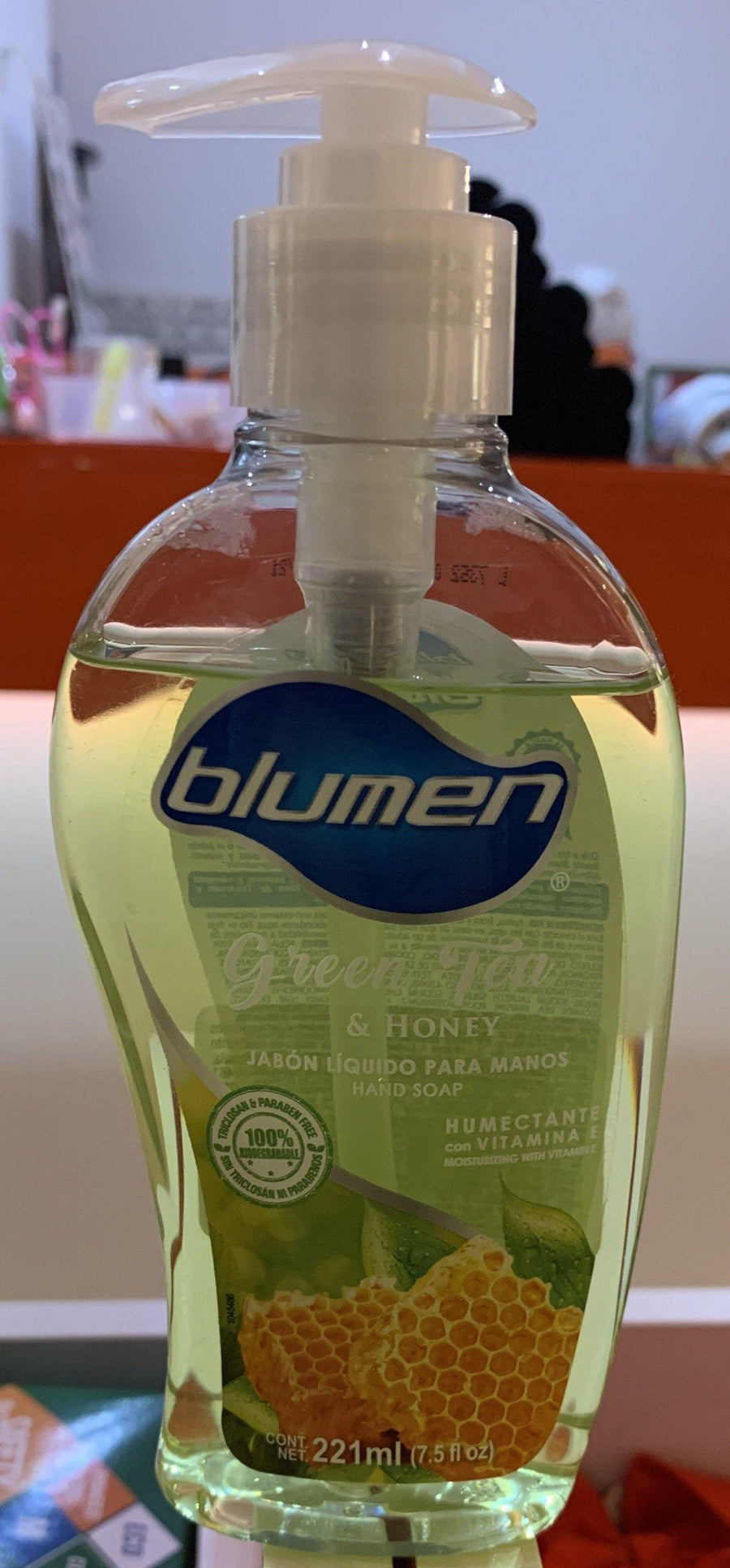 BLUMEN JABON ANTIBACTERIAL 221ML Green Tea