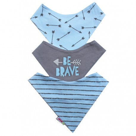 MI NENE BABEROS BLUE ARROW / GRAY / STRIPE