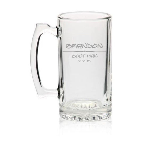 MIP Custom Personalized 27oz BEER MUG GLASS Engraved Stein ADD TEXT & IMAGES !!