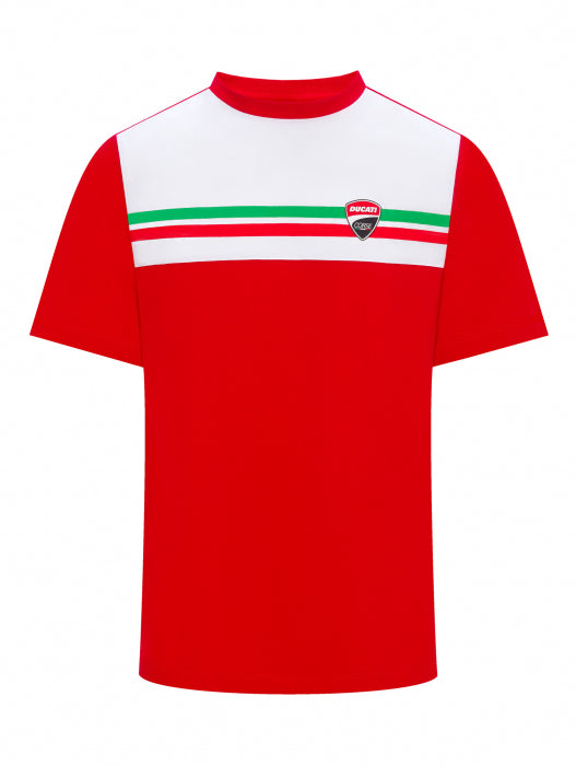 T-Shirt Ducati Corse Italian flag official collection