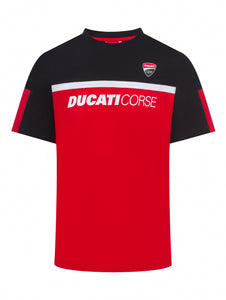T-Shirt Ducati Corse contrast yoke official collection