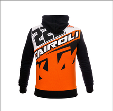 Load image into Gallery viewer, Hoodie 222 Tony Cairoli KTM fleece official colors.