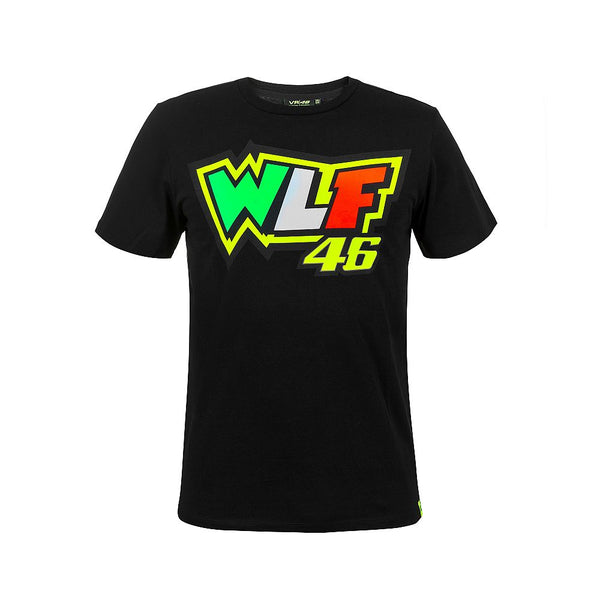 T-shirt with WLF acronym VR46 official collection Valentino Rossi