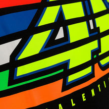 Load image into Gallery viewer, T-shirt VR46 stripes black official collection