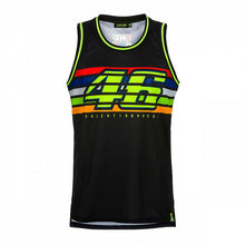 Load image into Gallery viewer, Tank top UNISEX VR46 stripes black official collection