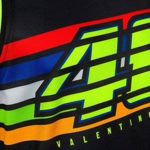 Tank top UNISEX VR46 stripes black official collection