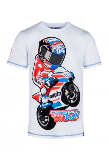 Kid t-shirt Andrea Dovizioso cartoon official collection Located in USA