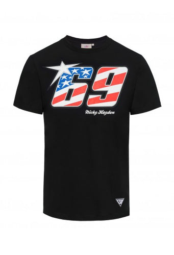 T-shirt Nicky Hayden 69 black official collection