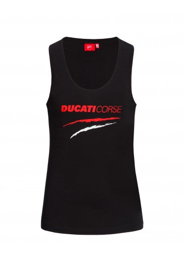 Tank top Ducati Corse black woman official collection