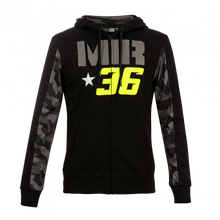Load image into Gallery viewer, Hoodie fleece Joan Mir 36 Camouflage official collection