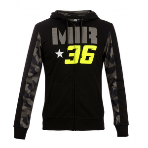 Hoodie fleece Joan Mir 36 Camouflage official collection