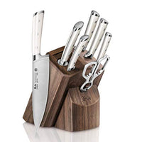 Used Cangshan S1 Series German Steel Forged 8-Piece Knife Block Set, Walnut