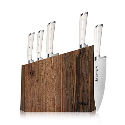 Used Cangshan S1 Series 6-Piece German Steel Forged Knife Block Set