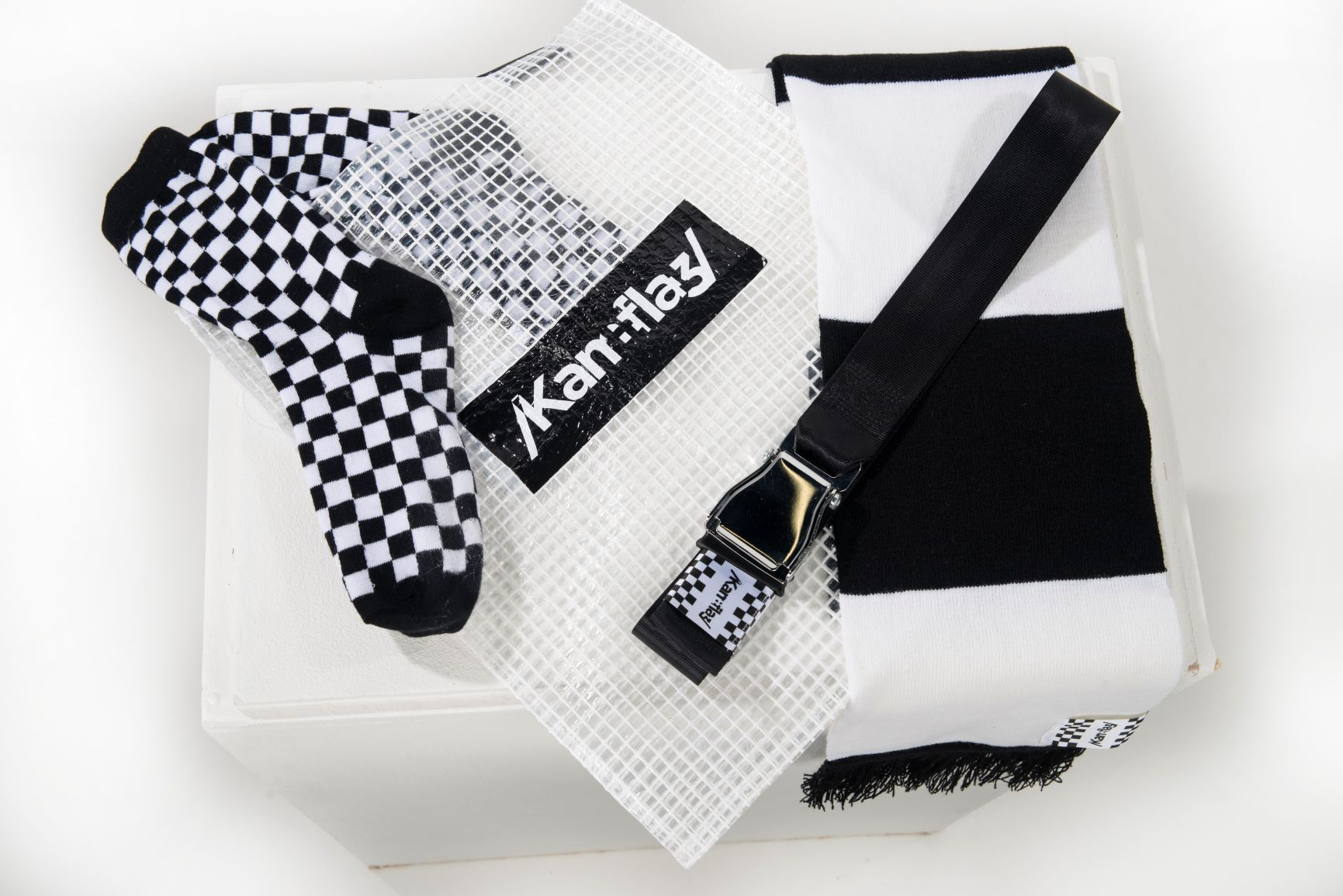 Kam0 Hooligan scarf smart loud accessory.  British made high fashion that stands out.