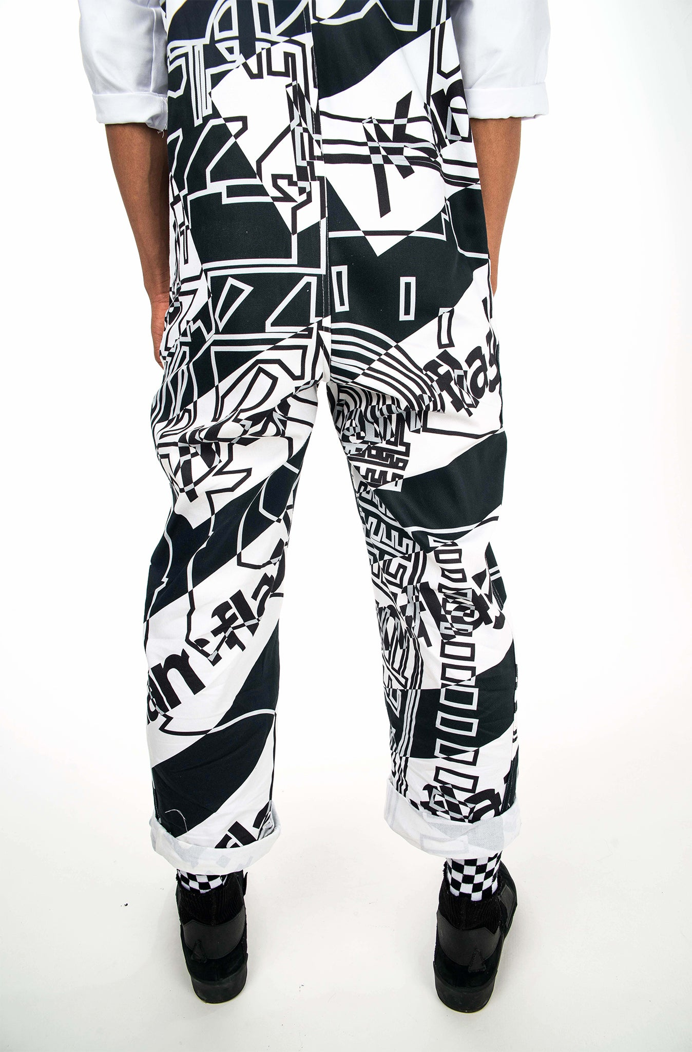 Kam0 Eye catching, hand made street wear boiler suit, British made high fashion that stands out.