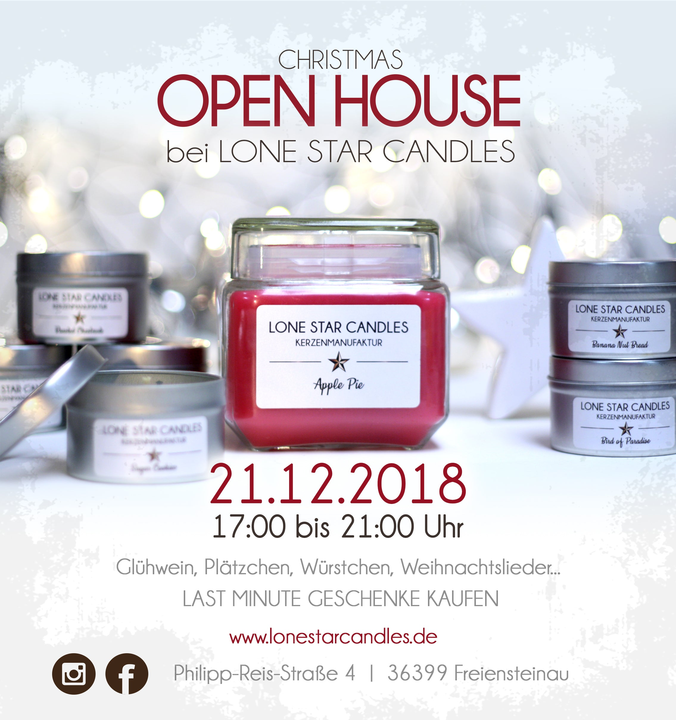 CHRISTMAS OPEN HOUSE BEI LONE STAR CANDLES