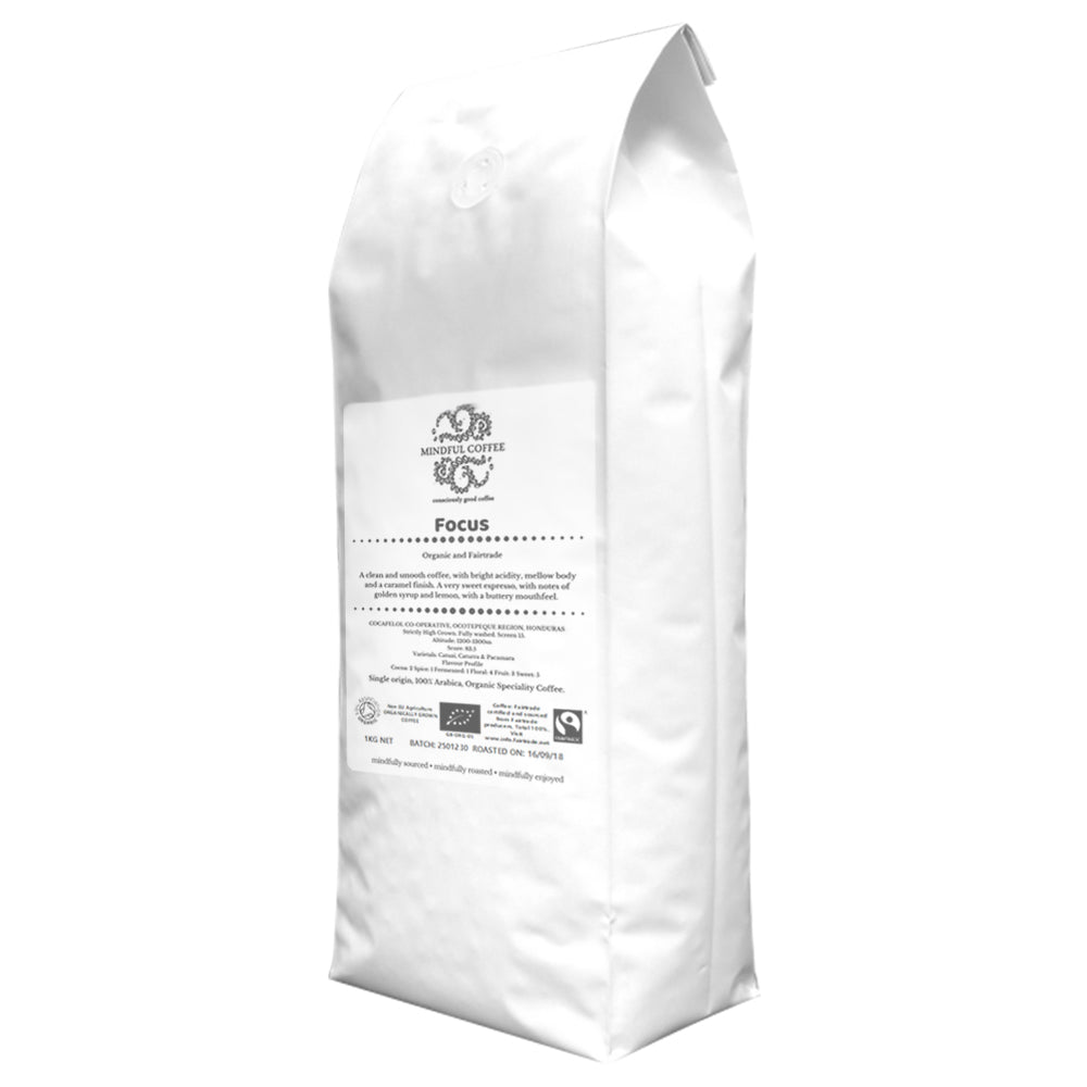 Mindful Coffee - Focus 1kg| Organic Bulletproof Coffee Beans | Lab Tested | Freshly Roasted |Single Origin Speciality