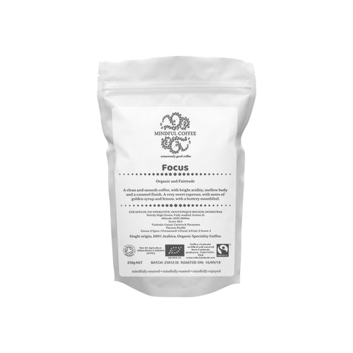 Mindful Coffee - Focus 250g| Organic Bulletproof Coffee Beans | Mycotoxin Free - Lab Tested | Freshly Roasted |Single Origin Speciality
