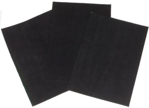 Premium Quality Suede Sheets 8.5 X12  With Super-Strong Self-Adhesive Backing. Ideal For Making Peel-And-Stick (Self-Stick, Stick-On) Soles For Dance Shoes, [Suede-Diy-3Pk-Black].