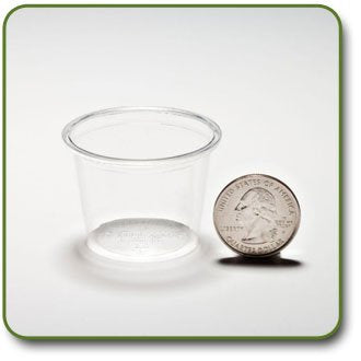 1 Oz. Pla Corn Plastic Biodegradable Portion Cups (Case Of 3000)