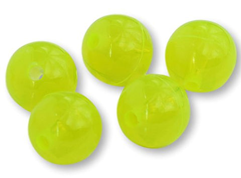 Round Acrylic Plastic Beads - Made In Usa (Chartreuse Yellow, 5Mm)