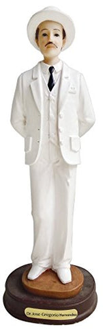 White Color DR.JOSE GREGORIO HERNANDEZ Statue Dr. Jose Sculpture in Resin Holy Figurine Home Deco Decoration (9 Inch)