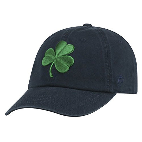 Top Of The World Ncaa Mens College Town Crew Adjustable Cotton Crew Hat Cap (Notre Dame Fighting Irish-Navy With Shamrock, Adjustable)