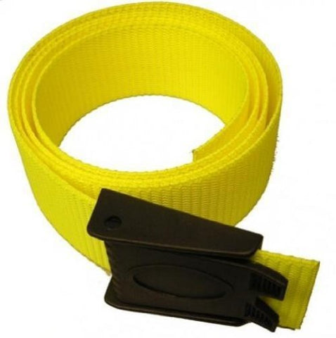 Storm Accessories Scuba Diving Weight Belt With Plastic Buckle, Yellow
