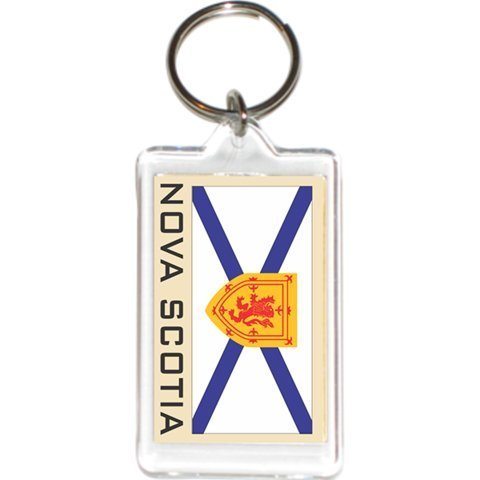 Acrylic Keychains Keyrings Holders - Americas Grp 1 (1-Pack, Country: Canada Nova Scotia)