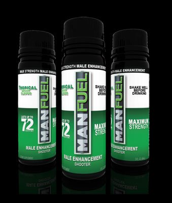 MANFUEL ALL NATURAL MALE ENHANCEMENT ENERGY LIBIDO STAMINA BOOSTER - TROPICAL FRUIT FLAVOR - MALE ENHANCEMENT SHOOTER -