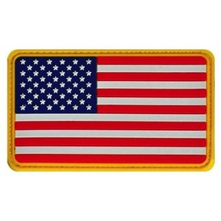 American Flag Pvc Patch, Colored