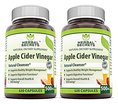 Herbal Secrets Apple Cider Vinegar 500mg 120 Capsules,