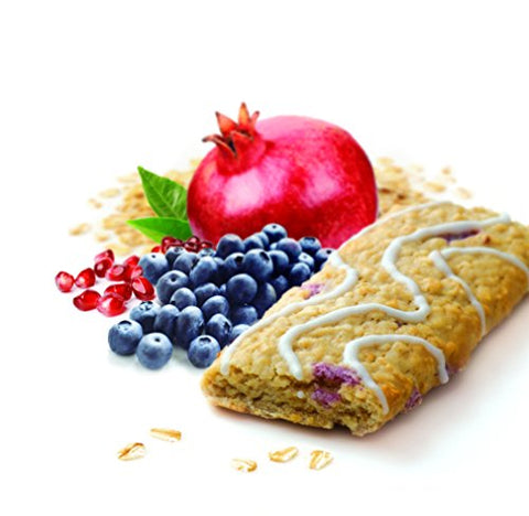 Appleways Simply Wholesome Oatmeal Bars Caddy, Blueberry Pomegranate, 15 Count