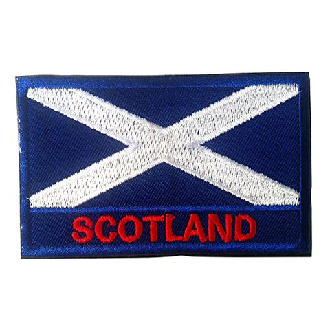 Backwoods Barnaby Scotland Flag Morale Patch/Uk British National Olympic Tactical Morale Patch With Hook &Amp; Loop For Molle Attachments (Scottish, 2  X 3 )