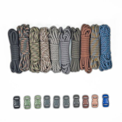 Paracord Planet Survival &Amp; Emergency Paracord Bracelet Kits (Cobra Braid Instructions Included) Unique Kits Ranging From 30 To 200 Feet In Total Length Of Cord