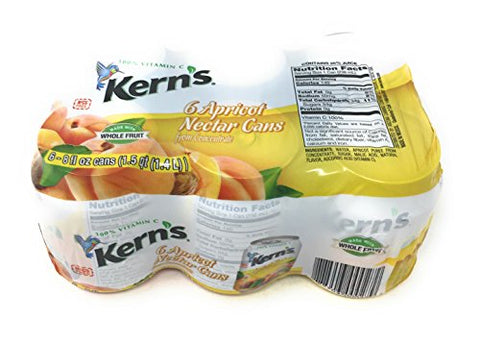Kern's Apricot Nectar, 12 - 8 Oz Cans