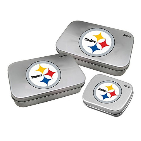 Worthy Promotional Nfl Pittsburgh Steelers Decorative Mint Tin With Sugar-Free Mini Peppermint Candies