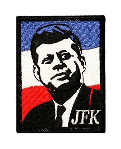 Fuzzy Dude Artist Dave Cherry Jfk John F Kennedy Embroidered Iron On Applique Patch