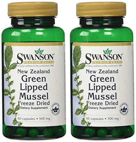 New Zealand Green Lipped Mussel 500 mg 60 Caps by Swanson