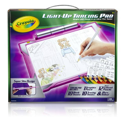 Crayola Light-up Tracing Pad - Pink, Coloring Board for Kids, Gift for Kids, Ages 6, 7, 8, 9, 10