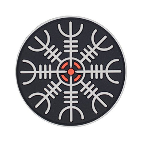 M-Tac Helm Of Awe Viking Morale Patches Pvc Norse Rune Vegvisir Morale (White)