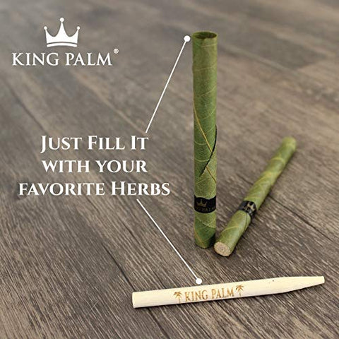 King Palm Mini Size Natural Pre Wrap Palm Leafs
